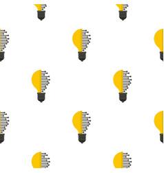 Lightbulb with microcircuit pattern flat vector