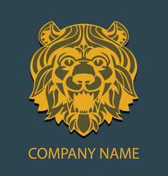 logo template head of a lion vector image vector image