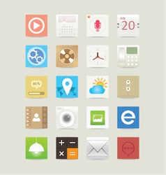 Multimedia web and mobile app icons vector image