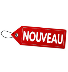 new on french language nouveau label or price vector image