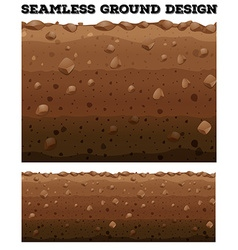 Seamless underground with different layers vector