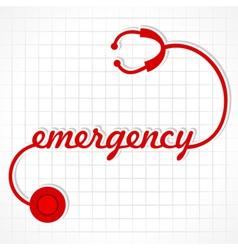 Stethoscope make emergency word vector image