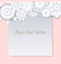 template for cardweddingparty with white flowers vector image
