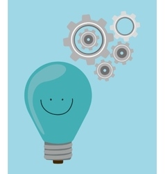 think positive design vector image