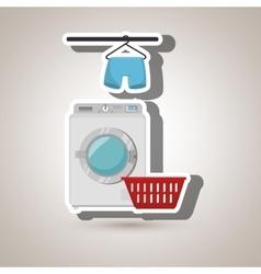 washing machine hang tshirt detergent vector image
