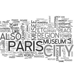 What you need to know about paris travel text vector