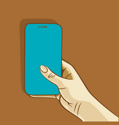 Women holding smart-phone vector