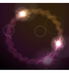 Glowing round lines design vector image