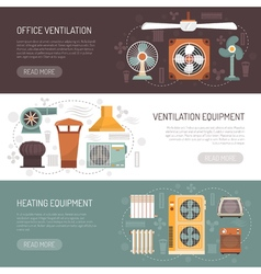 Ventilation Conditioning And Heating Banners vector image