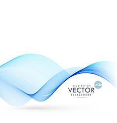 blue smooth wave background vector image