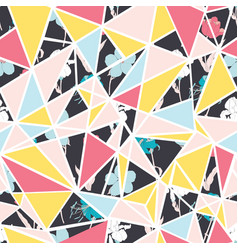 Abstract floral triangles seamless repeat vector