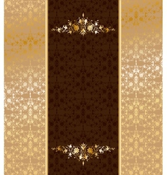 Vintage gold ornament vector image