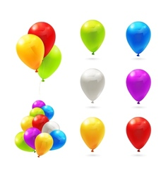 Toy balloons set of icons vector image