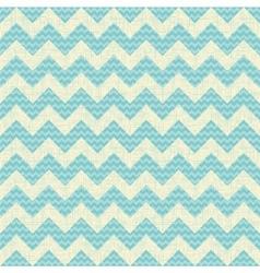 Seamless chevron pattern on linen turquoise canvas vector image