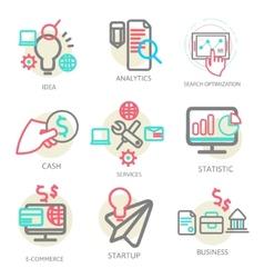 Liner set business concept vector