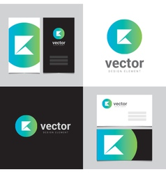 Logo design element with two business cards - 11 vector