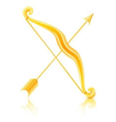 Bow with arrow vector