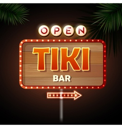 Neon sign tiki bar vector
