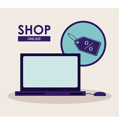 Shop design vector
