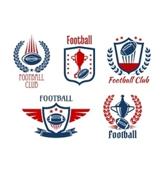 American football sport symbols and icons vector