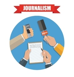 Mass media and press conference journalism icon vector