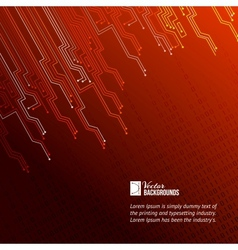 Abstract red lights background vector image vector image
