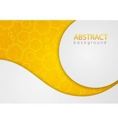 Abstract yellow background with hexagon vector
