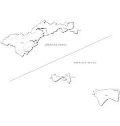 American samoa black white map vector