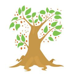 Big tree icon cartoon style vector