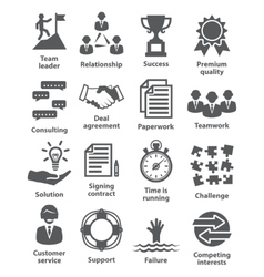 Business management icons Pack 10 vector image vector image