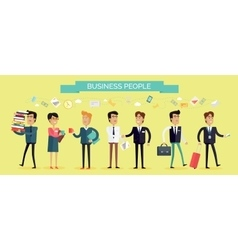 Business people concept in flat design vector