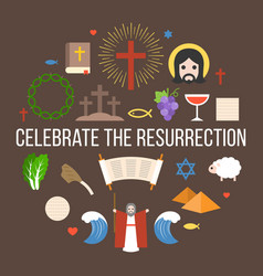 celebrate the resurrection of jesus vector image vector image