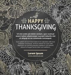 Chalk thanksgiving background vector