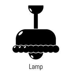 chandelier icon simple black style vector image