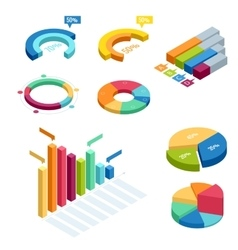 Chart and graphic isometric business diagram data vector