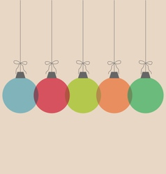 Christmas balls isolated on beige vector image vector image