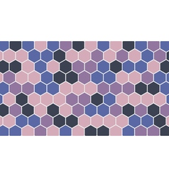 Colorful hexagonal geometric background vector