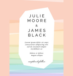Colorful wedding invitation template vector