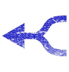 Combine arrow left grunge textured icon vector