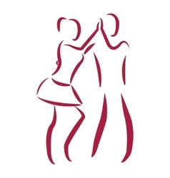 Couple dancing salsa vector