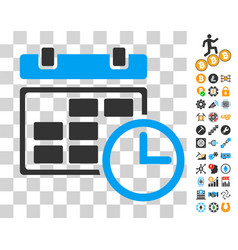 Date and time icon with bonus vector