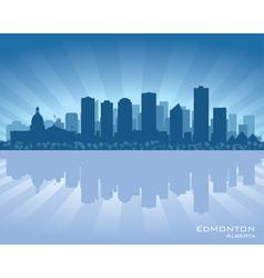 Edmonton Canada skyline vector image