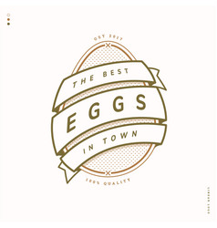 egg farm linear logo vector image vector image