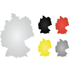 Germany map vector image vector image