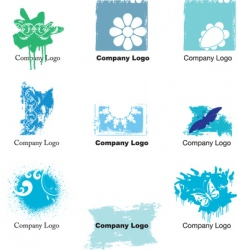 grunge logos vector image