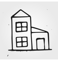 Hand drawn house vector image vector image