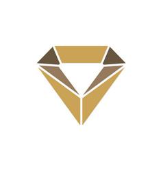 Jewelry crystal diamond logo vector
