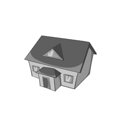Large house with attic icon vector