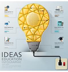 Light Bulb Three Dimension Polygon Idea And vector image