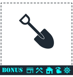 Mini Shovel icon flat vector image